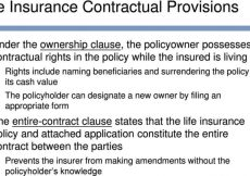 What Does An Ownership Clause Mean In A Life Insurance Policy