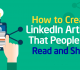 How to Share Other People's Articles on LinkedIn